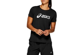 ASICS Women's Silver Top (Performance Black/Brilliant White, Size XS)