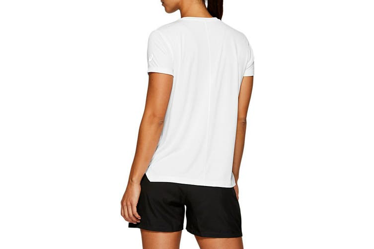 ASICS Women's Silver Top (Brilliant White / Performance Black, Size S)