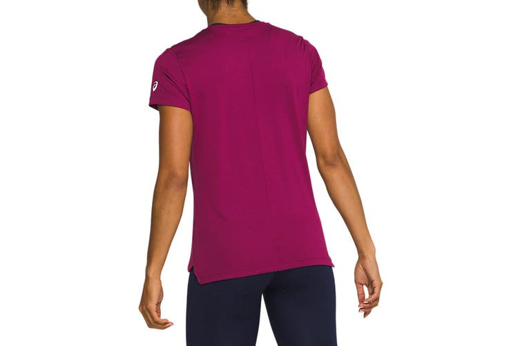 ASICS Women's Silver Top (Dried Berry/Classic Red, Size M)