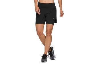 ASICS Women's Road 2-N-1 Shorts (Performance Black, Size M)