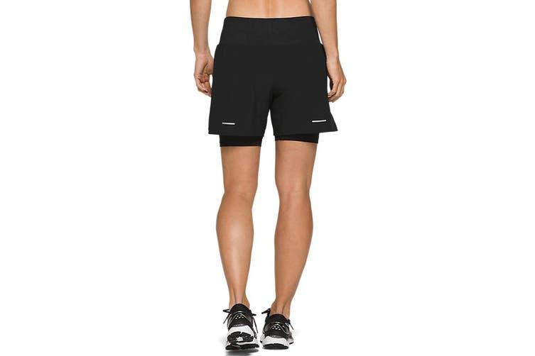 ASICS Women's Road 2-N-1 Shorts (Performance Black, Size XS)