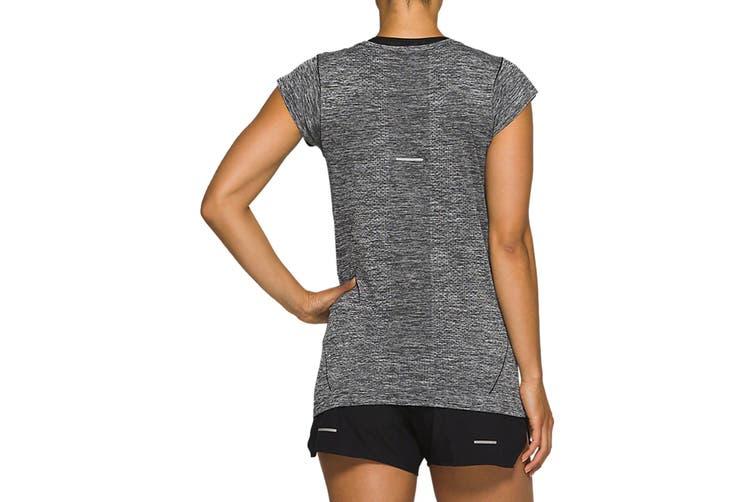 ASICS Women's Race Seamless Short Sleeve (Performance Black, Size L)