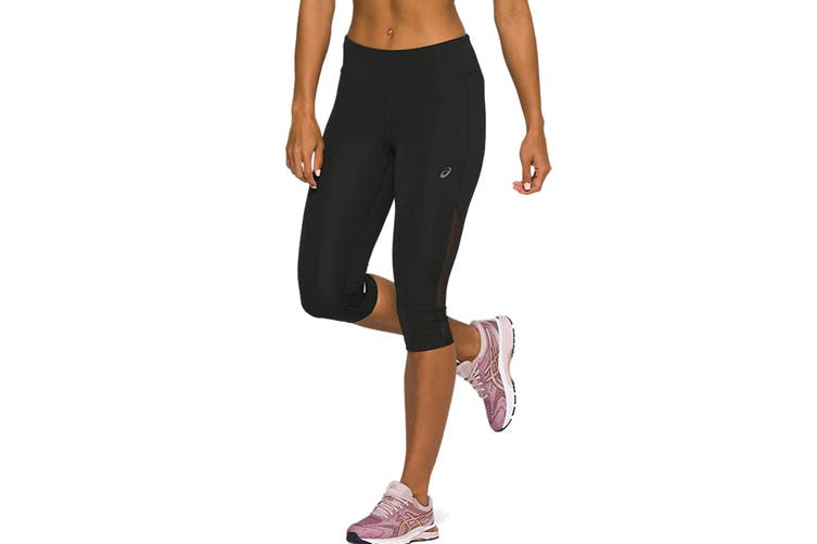 ASICS Women's Capri Tight (Performance Black, Size M)