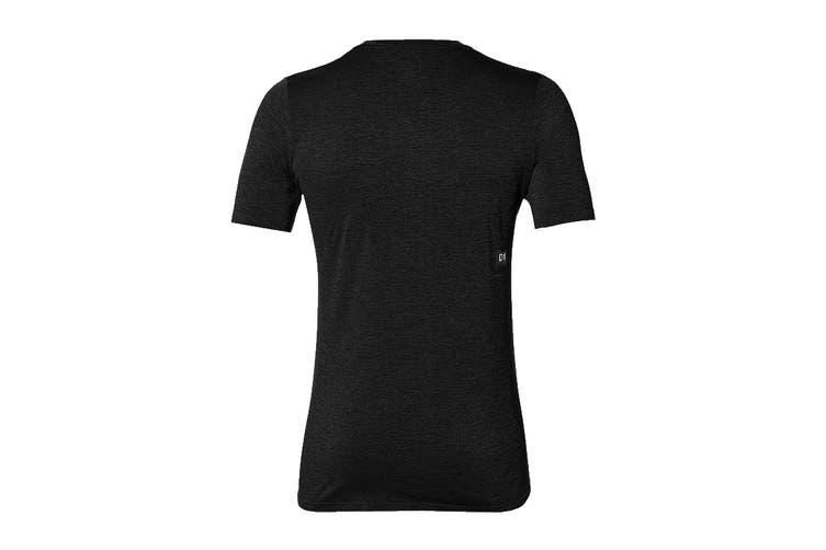 ASICS Men's Seamless Short Sleeve Top (Performance Black, Size M)