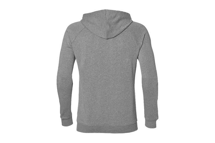 ASICS Men's Training Hoodie (Mid Grey Heather/Dark Grey, Size XXL)