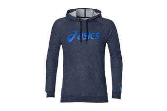 ASICS Men's Training Hoodie (Peacoat Heather/Blue, Size L)