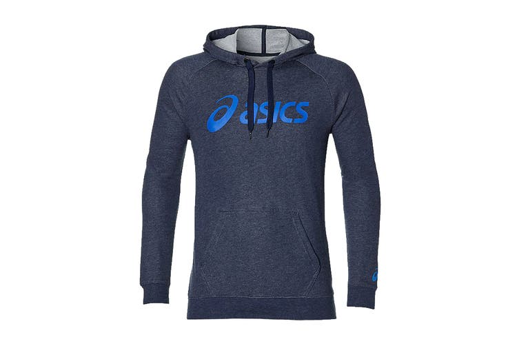 ASICS Men's Training Hoodie (Peacoat Heather/Blue, Size M)