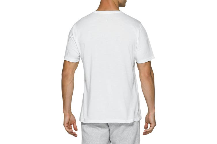 ASICS Men's AT Graphic Short Sleeve Tee (Brilliant White/Piedmont Grey, Size M)