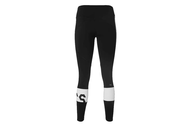 ASICS Women's Training Color Block Cropped Tight 2 (Performance Black/Carbon, Size S)
