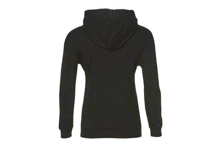 ASICS Women's Training Hoodie (Performance Black/Brilliant White, Size M)