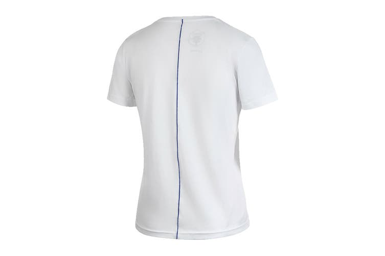 ASICS Boys Big Spiral Short Sleeve Top (Brilliant White, Size L)