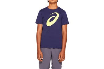 ASICS Boys Big Spiral Short Sleeve Top (Peacoat)
