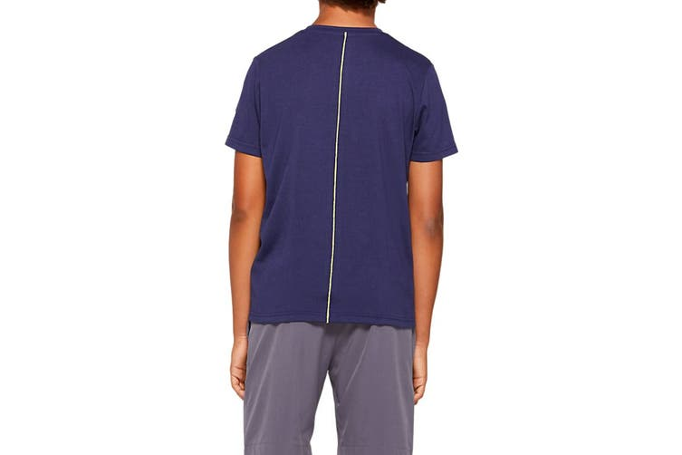 ASICS Boys Big Spiral Short Sleeve Top (Peacoat, Size M)