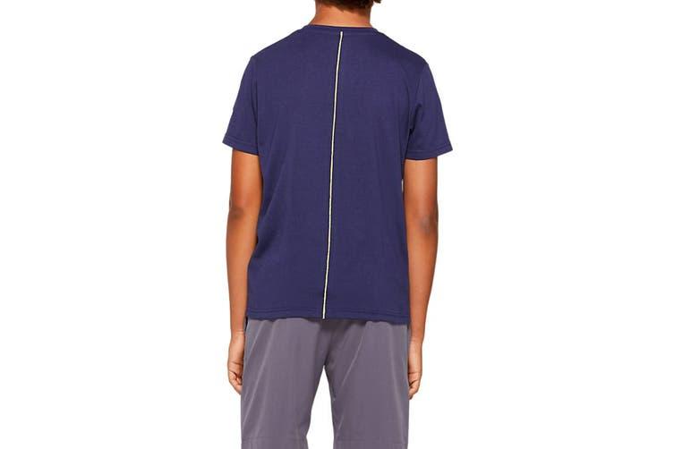 ASICS Boys Big Spiral Short Sleeve Top (Peacoat, Size S)