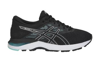 ASICS Women's GEL-Flux 5 Running Shoe (Black/Silver, Size 6)