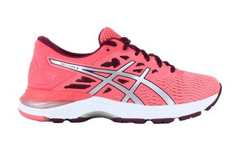 ASICS Women's GEL-Flux 5 Running Shoe (Pink Cameo/Silver, Size 6)