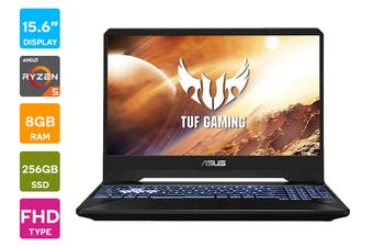 "ASUS TUF 15.6"" Ryzen R5-3550H 8GB RAM 256GB SSD GTX1650 60Hz Win10 Gaming Laptop (FX505DT-BQ191T)"