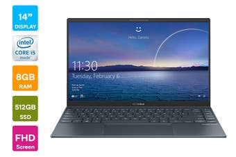 "ASUS ZenBook 14"" Core i5-1035G1 8GB RAM 512GB SSD Win10 Pro Laptop (UX425JA-BM089R)"
