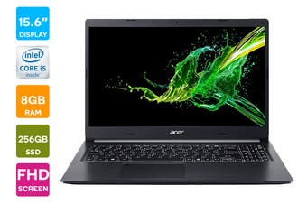 "Acer Aspire 5 15.6"" FHD Win 10 Laptop (i5-1035G1, 8GB RAM, 256GB SSD, Black) - Australian Model"