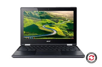 """Acer R11 C738T-C44Z 11.6"""" Convertible 2-in-1 Touch Screen Chromebook Chrome OS Laptop (Intel Celeron, 4GB RAM, 16GB, Black) - Certified Refurbished"""