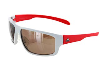 Adidas Kumacross 2.0 Sunglasses (Matte White/Flash Red, Size 64-13-140) - Lst Active Silver