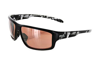 Adidas Kumacross 2.0 Sunglasses (Shiny Black, Size 64-13-140) - Lst Active Silver