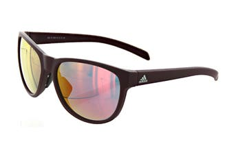 Adidas Wildcharge Sunglasses (Matte Maroon, Size 57-16-140) - Red Mirror