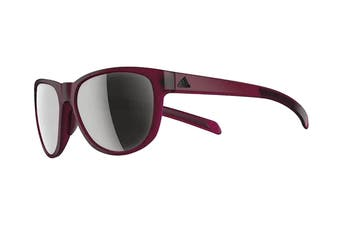 Adidas Wildcharge Sunglasses (Matte Mystery Ruby, Size 57-16-140) - Chrome Mirror
