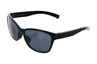 Adidas Women's Excalate Sunglasses (Shiny Black, Size 58-15-140) - Grey Polarized