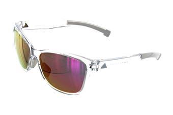 Adidas Women's Excalate Sunglasses (Shiny Crystal, Size 58-15-140) - Purple Mirror