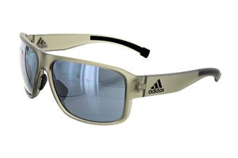 Adidas Men's Jaysor Sunglasses (Matte Cargo, Size 60-14-135) - Chrome Mirror