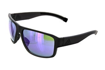 Adidas Men's Jaysor Sunglasses (Matte Coal, Size 60-14-135) - Viola Mirror
