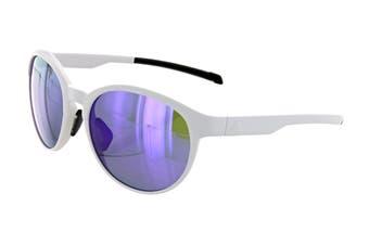 Adidas AD3175 Sunglasses (Matte White, Size 55-17-135) - Viola Mirror