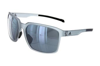 Adidas AD4475 Sunglasses (Transparent Grey, Size 60-17-135) - Chrome Mirror