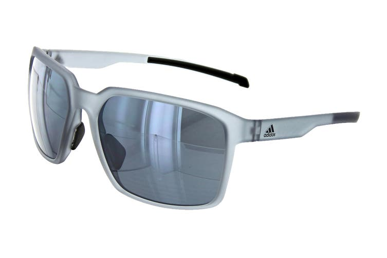 Adidas AD4475 Sunglasses (Transparent Grey, Size 60-17-135) - Chrome Mirror