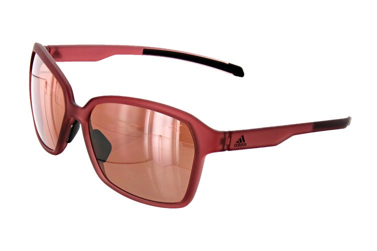 Adidas AD4575 Sunglasses (Matte Trace Maroon, Size 58-15-135) - Lst Active Silver