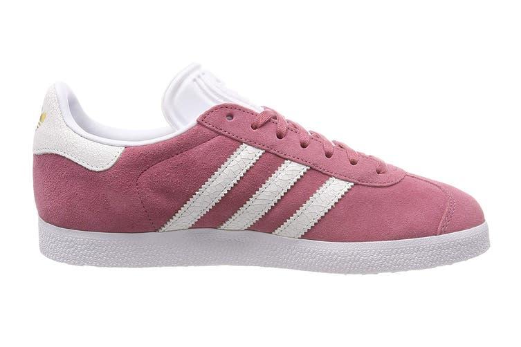 Adidas Originals Women's Gazelle Shoe (Maroon/White, Size 6.5 UK)