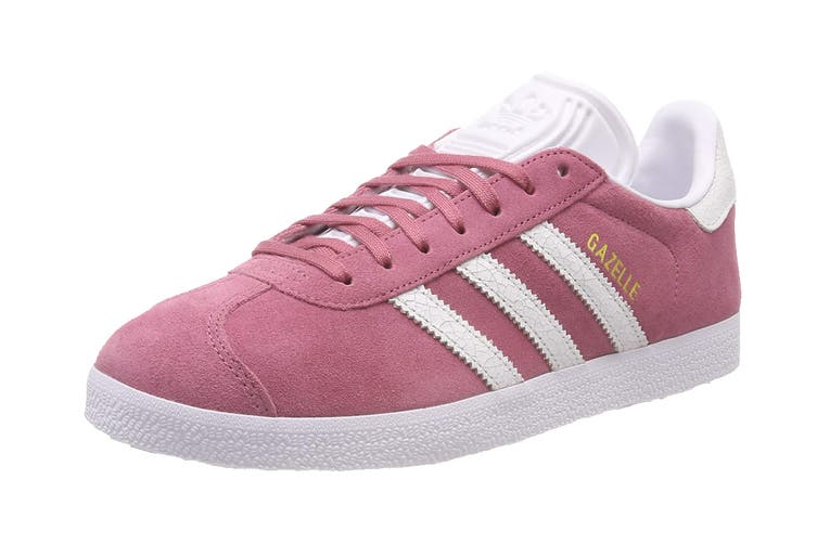Adidas Originals Women's Gazelle Shoe (Maroon/White, Size 8.5 UK)
