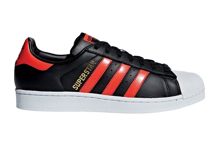 Adidas Originals Men's Superstar Shoe (Core Black/Bold Orange/White, Size 10.5 UK)