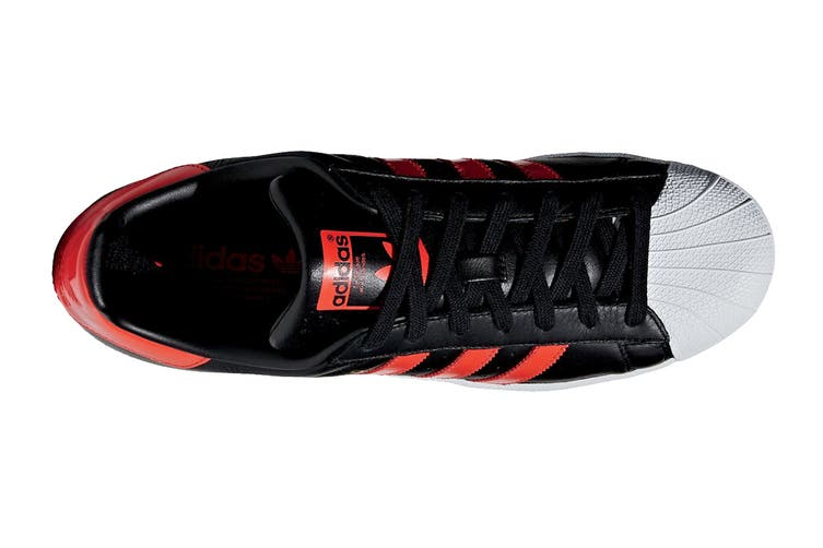 Adidas Originals Men's Superstar Shoe (Core Black/Bold Orange/White, Size 5 UK)