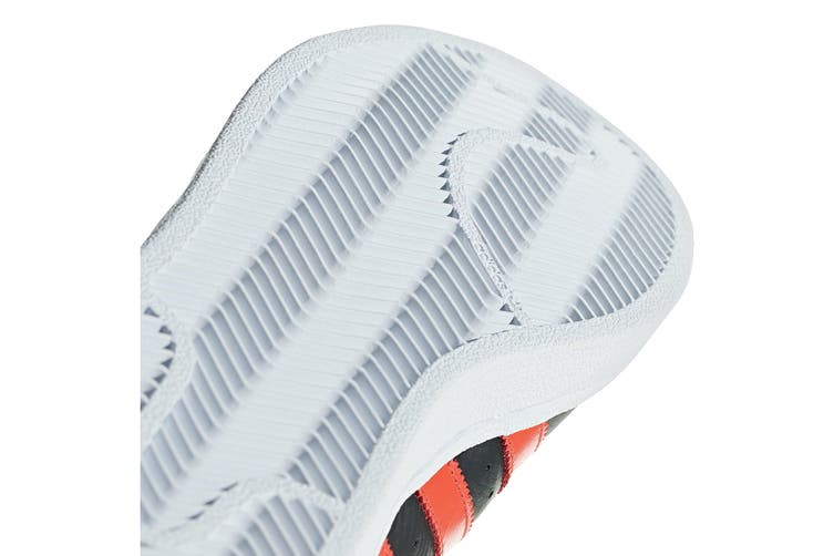 Adidas Originals Men's Superstar Shoe (Core Black/Bold Orange/White, Size 8 UK)