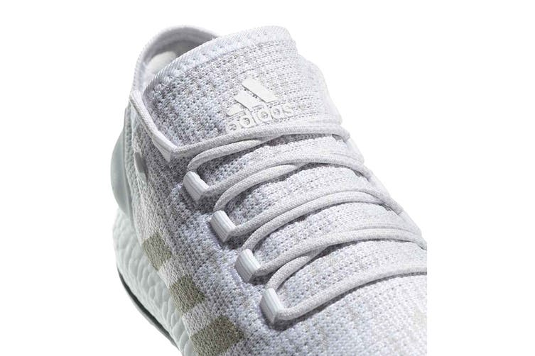 Adidas Men's PureBOOST Running Shoe (White/Grey, Size 11 UK)