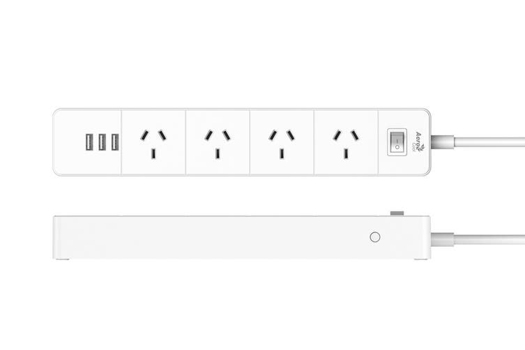 Aerocool ASA SA4A3U2 PowerStrip with 4 AC Outlet and 3 USB Charging Ports, 5V/2.4A