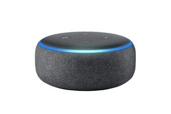 Amazon Echo Dot (3rd Generation, Charcoal Fabric)