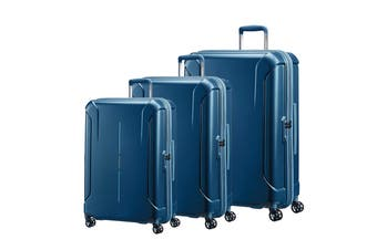 American Tourister Technum 3 Piece TSA Luggage Set (Metallic Blue)