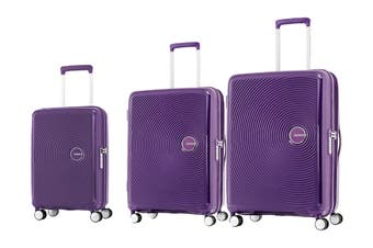 American Tourister Curio 3 Piece TSA Luggage Set (Purple)