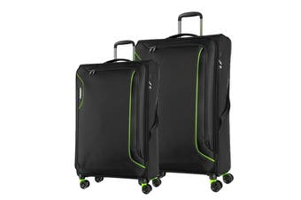 American Tourister Applite 3 Spinner 2 Piece TSA Luggage Set (Black)