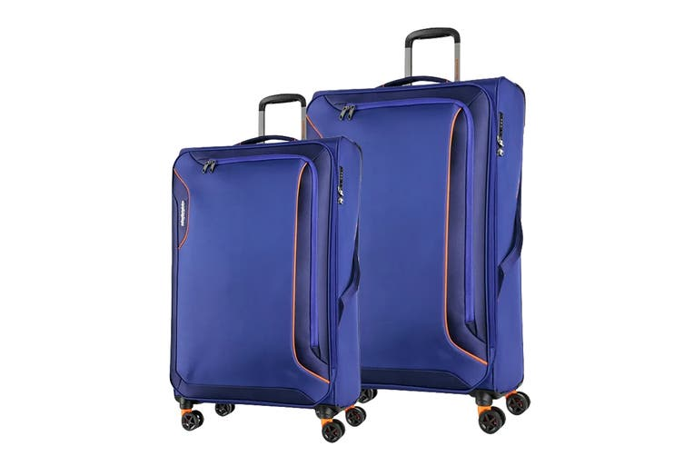American Tourister Applite 3 Spinner 2 Piece TSA Luggage Set (Bodega Blue)