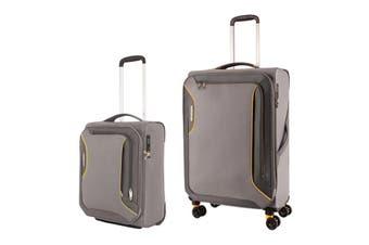 American Tourister Applite 3 Spinner 2 Piece TSA Luggage Set (Lightning Grey)