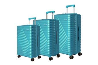 American Tourister High Rock 3 Piece TSA Luggage Set (Lagoon Blue)